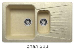 Кухонная мойка POLYGRAN F-18 из искусственного камня 85х50см с двумя чашами 7600 рублей, фото 3 | интернет-магазин Складно