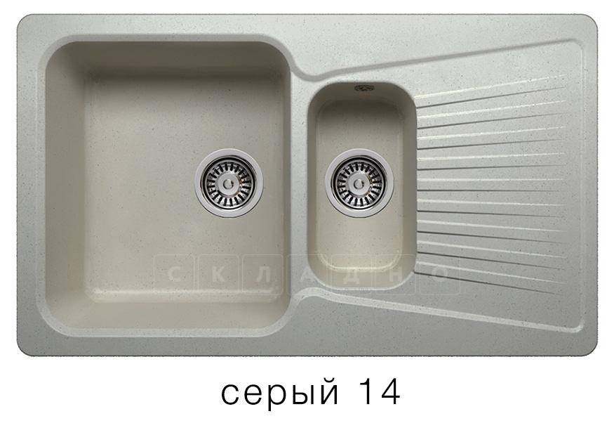 Кухонная мойка POLYGRAN F-18 из искусственного камня 85х50см с двумя чашами фото 7 | интернет-магазин Складно