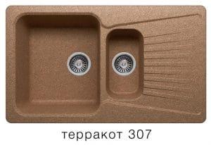 Кухонная мойка POLYGRAN F-18 из искусственного камня 85х50см с двумя чашами 7600 рублей, фото 8 | интернет-магазин Складно