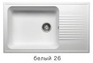 Кухонная мойка POLYGRAN F-19 из искусственного камня 85х50 см с широкой чашей 7600 рублей, фото 5 | интернет-магазин Складно