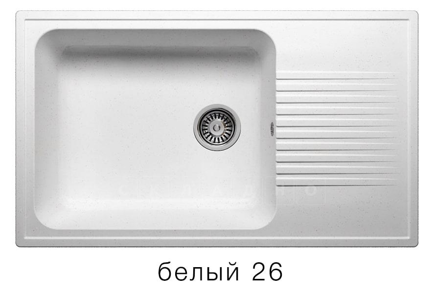 Кухонная мойка POLYGRAN F-19 из искусственного камня 85х50 см с широкой чашей фото 5 | интернет-магазин Складно