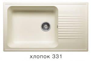 Кухонная мойка POLYGRAN F-19 из искусственного камня 85х50 см с широкой чашей 7600 рублей, фото 2 | интернет-магазин Складно