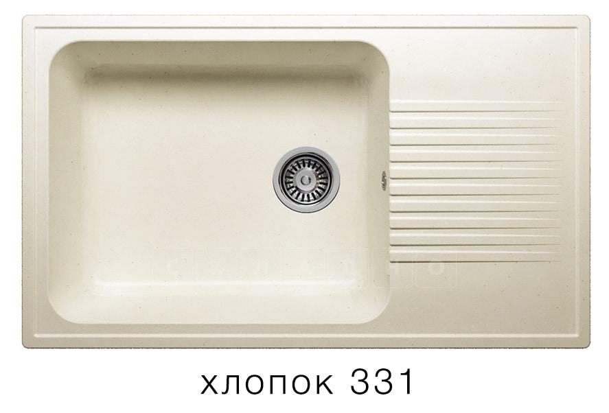 Кухонная мойка POLYGRAN F-19 из искусственного камня 85х50 см с широкой чашей фото 2 | интернет-магазин Складно