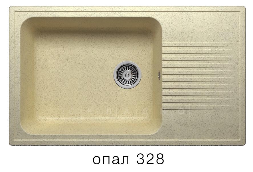 Кухонная мойка POLYGRAN F-19 из искусственного камня 85х50 см с широкой чашей фото 3 | интернет-магазин Складно