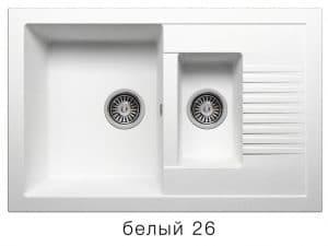 Кухонная мойка POLYGRAN F-21 из искусственного камня 77х49 см с двумя чашами 7000 рублей, фото 5   интернет-магазин Складно