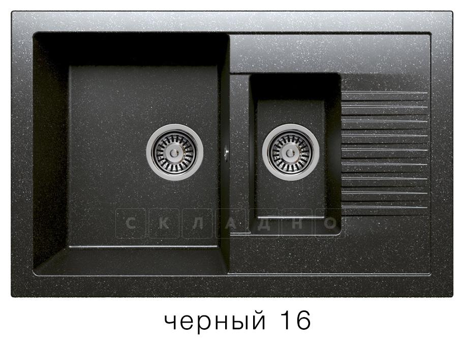 Кухонная мойка POLYGRAN F-21 из искусственного камня 77х49 см с двумя чашами фото 6   интернет-магазин Складно