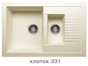 Кухонная мойка POLYGRAN F-21 из искусственного камня 77х49 см с двумя чашами 7000 рублей, фото 2   интернет-магазин Складно