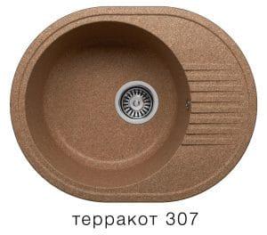 Кухонная мойка POLYGRAN F-22 из искусственного камня 58х46 см овальная 4900 рублей, фото 8 | интернет-магазин Складно