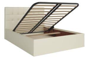 Кровать с подъемным механизмом Находка 160 см молочного цвета 19750 рублей, фото 2 | интернет-магазин Складно