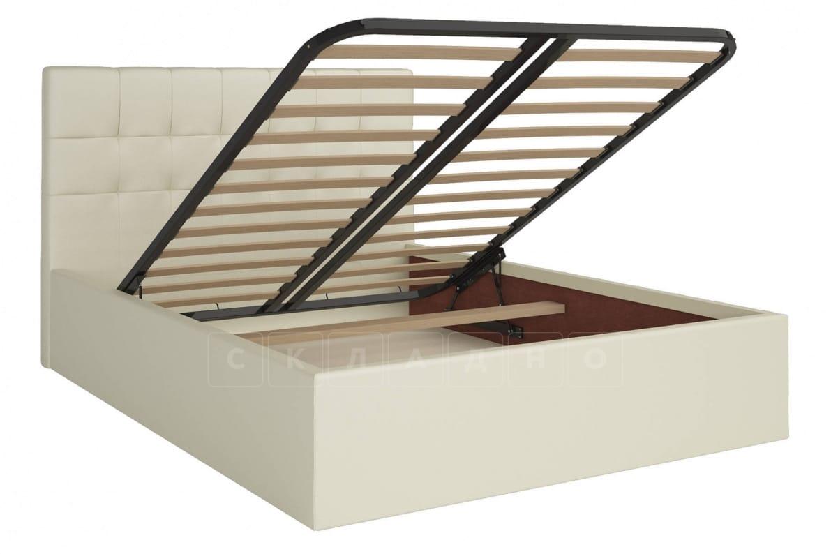 Кровать с подъемным механизмом Находка 160 см молочного цвета фото 2 | интернет-магазин Складно