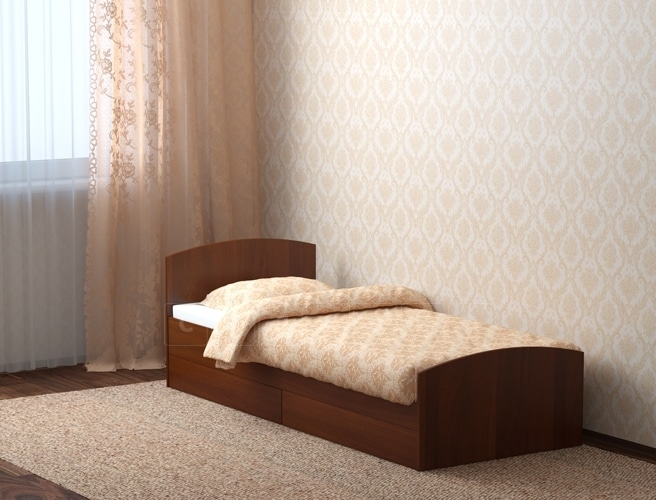 Кровать с ящиками Л-1 80 см фото 2 | интернет-магазин Складно