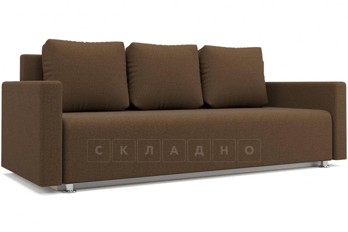 Диван еврокнижка Олимп коричневый фото 1 | интернет-магазин Складно