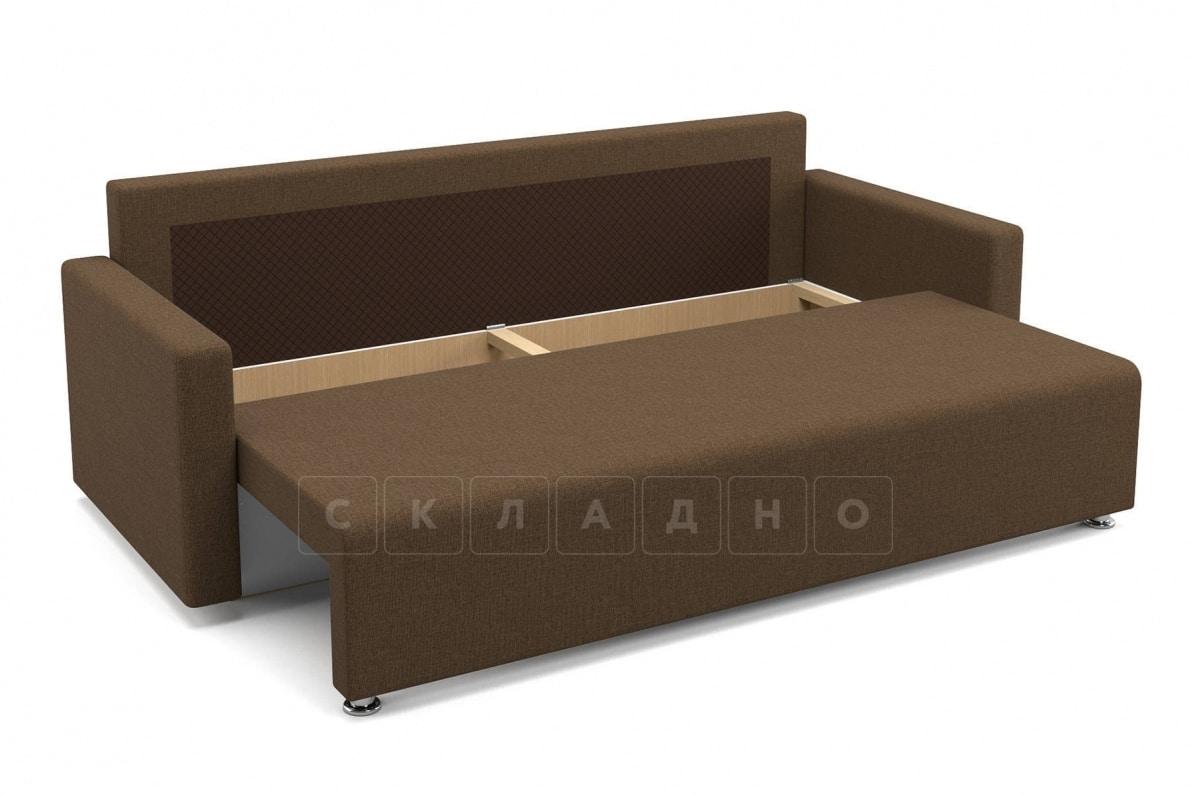 Диван еврокнижка Олимп коричневый фото 5 | интернет-магазин Складно