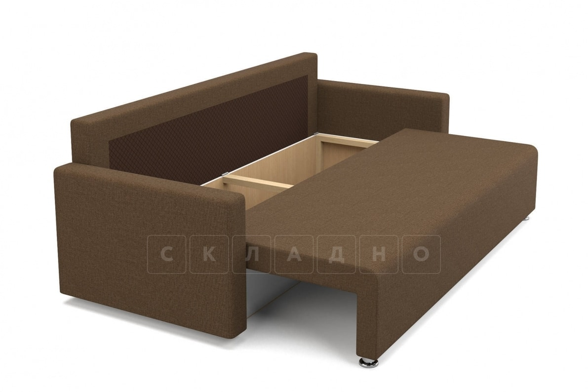 Диван еврокнижка Олимп коричневый фото 6 | интернет-магазин Складно
