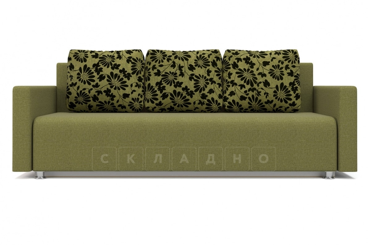 Диван еврокнижка Олимп зеленый фото 2 | интернет-магазин Складно