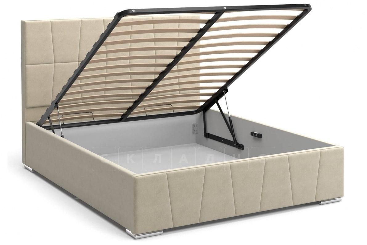 Кровать с подъемным механизмом Пассаж 180см бежевая фото 2 | интернет-магазин Складно
