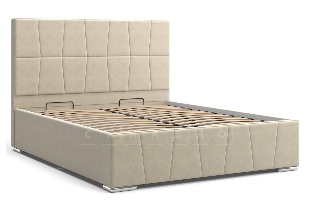Кровать с подъемным механизмом Пассаж 180см бежевая фото 3 | интернет-магазин Складно