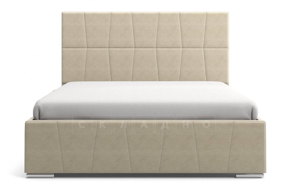 Кровать с подъемным механизмом Пассаж 180см бежевая фото 4 | интернет-магазин Складно