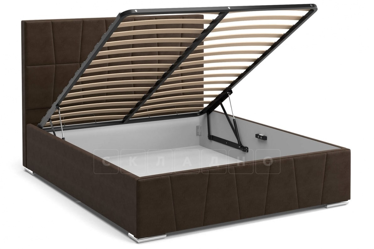 Кровать с подъемным механизмом Пассаж 180см темно-коричневая фото 2 | интернет-магазин Складно