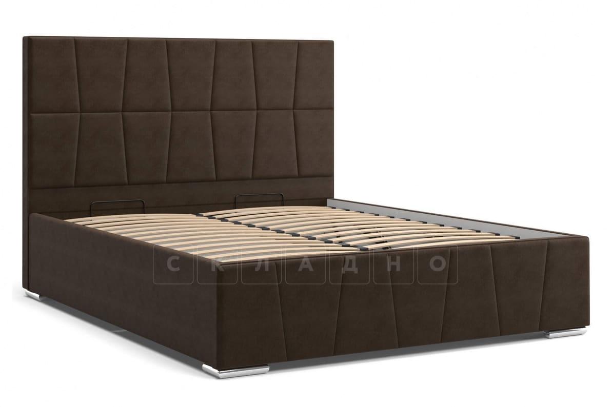 Кровать с подъемным механизмом Пассаж 180см темно-коричневая фото 3 | интернет-магазин Складно