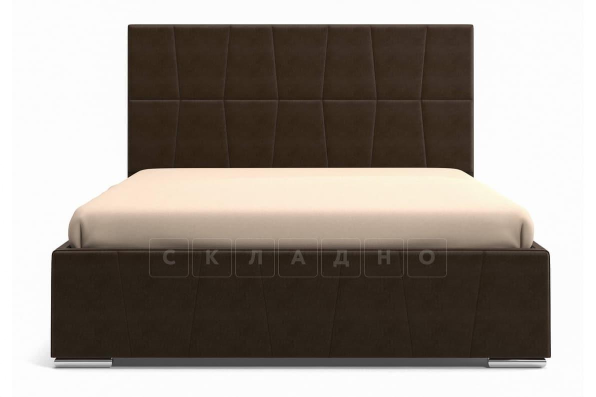 Кровать с подъемным механизмом Пассаж 180см темно-коричневая фото 4 | интернет-магазин Складно