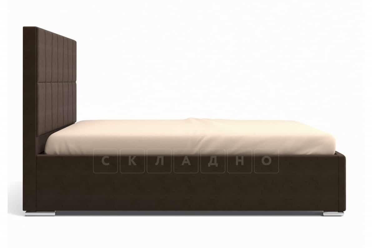 Кровать с подъемным механизмом Пассаж 180см темно-коричневая фото 5 | интернет-магазин Складно