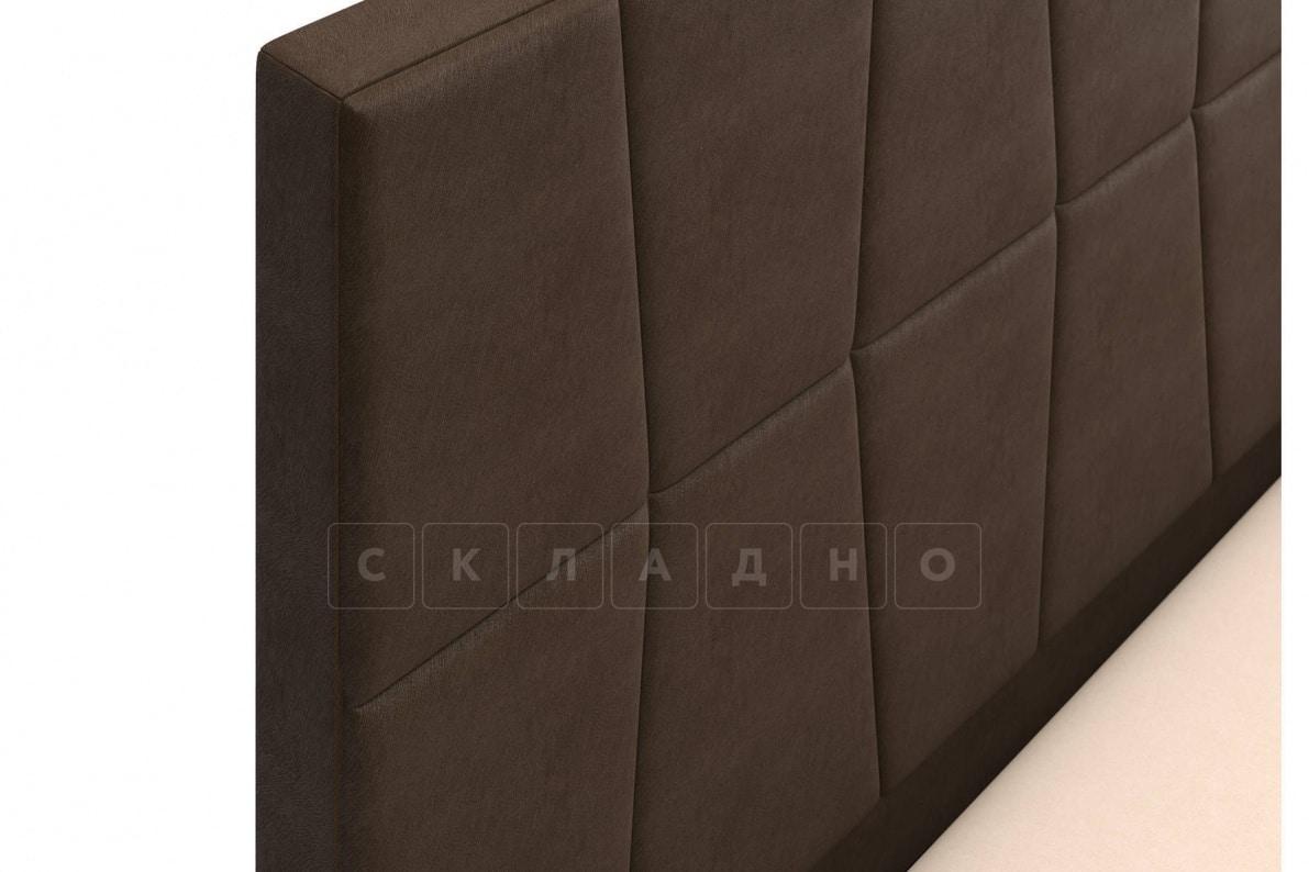 Кровать с подъемным механизмом Пассаж 180см темно-коричневая фото 6 | интернет-магазин Складно