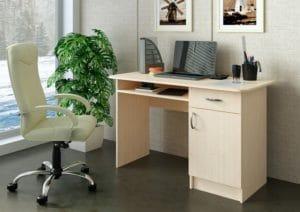 Письменный стол ПС-01 с дверцей и ящиком фото | интернет-магазин Складно