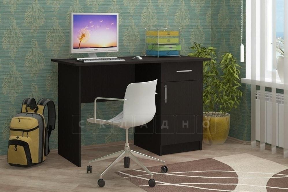 Письменный стол ПС-01 с дверцей и ящиком фото 2 | интернет-магазин Складно