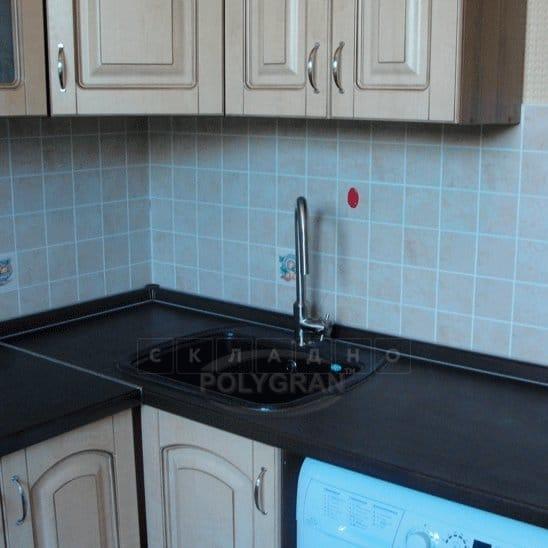 Кухонная мойка POLYGRAN F-11 из искусственного камня 57х50 см фото 11 | интернет-магазин Складно