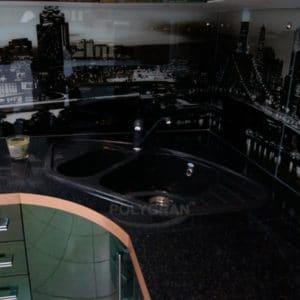 Кухонная мойка POLYGRAN F-14 из искусственного камня 96х51 см угловая 7000 рублей, фото 11 | интернет-магазин Складно