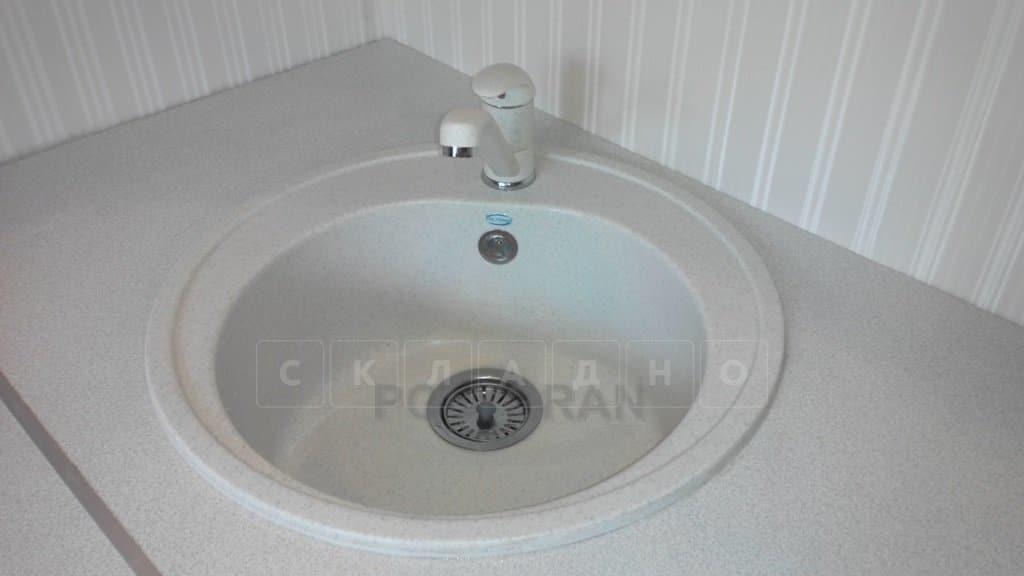 Кухонная мойка POLYGRAN F-08 из искусственного камня D51см фото 12 | интернет-магазин Складно