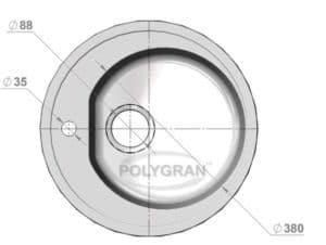 Кухонная мойка POLYGRAN F-08 из искусственного камня D51см 3490 рублей, фото 10 | интернет-магазин Складно