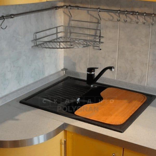 Кухонная мойка POLYGRAN F-07 из искусственного камня 61х50 см с одной чашей фото 11 | интернет-магазин Складно