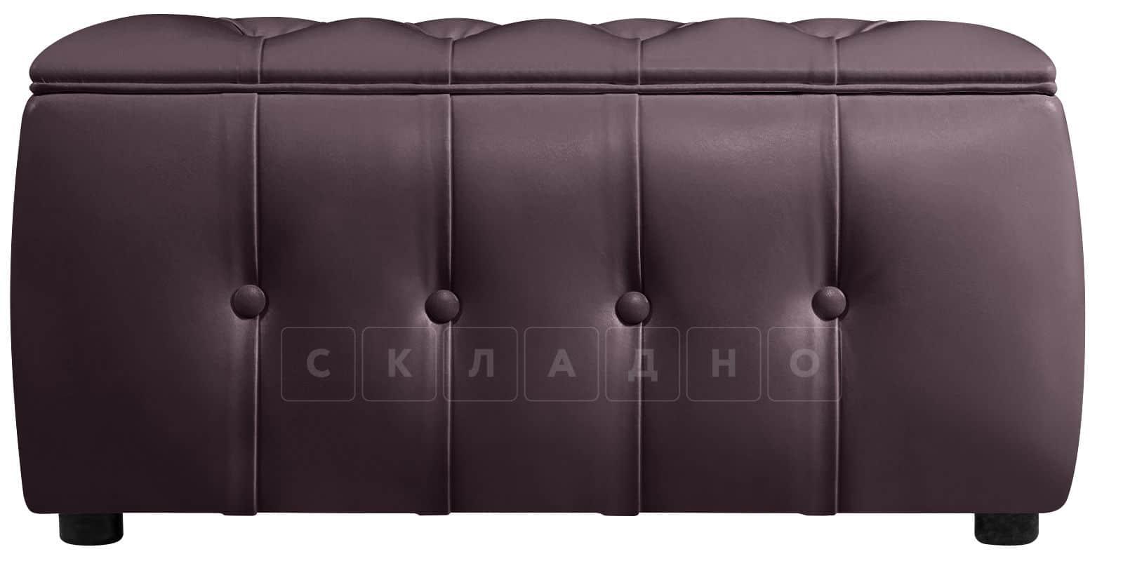 Пуф Малибу двухместный шоколадного цвета фото 2 | интернет-магазин Складно
