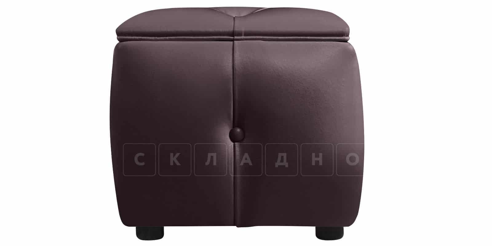 Пуф Малибу двухместный шоколадного цвета фото 3 | интернет-магазин Складно
