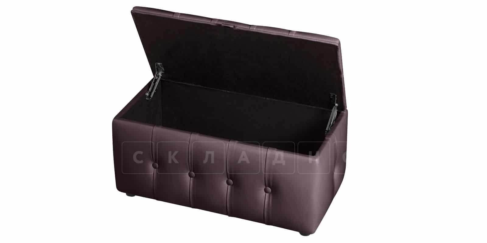 Пуф Малибу двухместный шоколадного цвета фото 5   интернет-магазин Складно