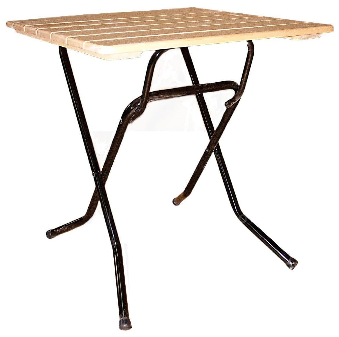 Складной стол Рейка квадратный 90 х 90 см. фото 1 | интернет-магазин Складно