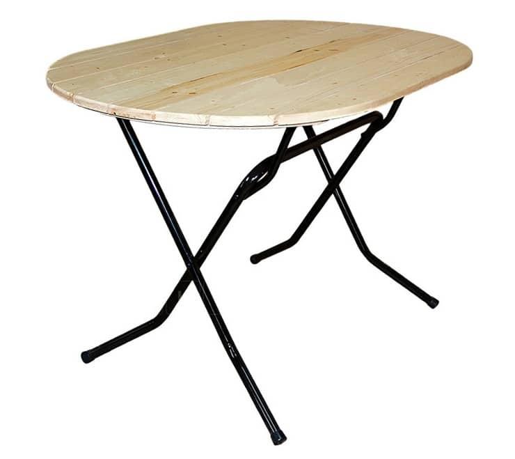 Складной стол Рейка овальный 120 х 80 см. фото 1 | интернет-магазин Складно