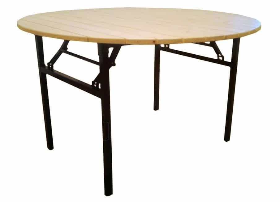 Складной стол Рейка круглый 130 х 130 см. фото 1 | интернет-магазин Складно