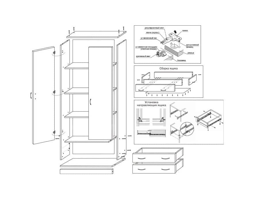 Шкаф с полками ЕШ-03 фото 3 | интернет-магазин Складно