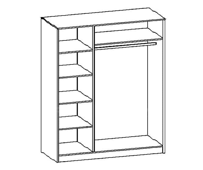 Шкаф распашной Зиля ЗШ-03 широкий штапик фото 2 | интернет-магазин Складно
