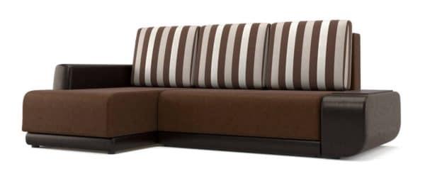 Угловой диван Соло коричневый левый фото | интернет-магазин Складно