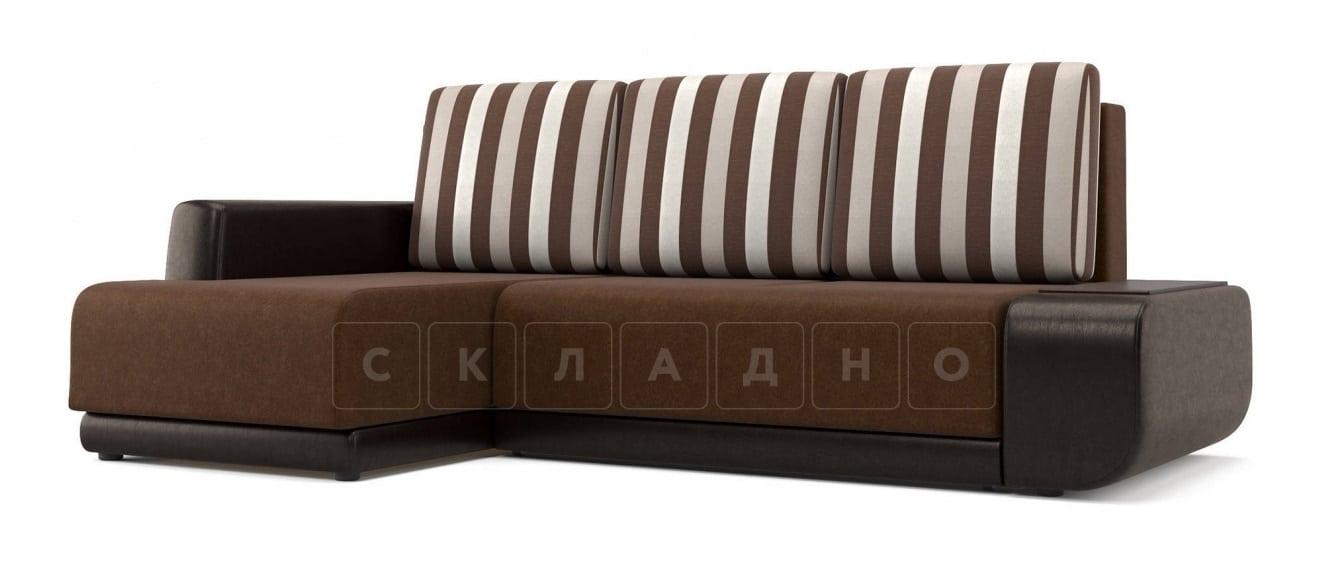 Угловой диван Соло коричневый левый фото 1 | интернет-магазин Складно