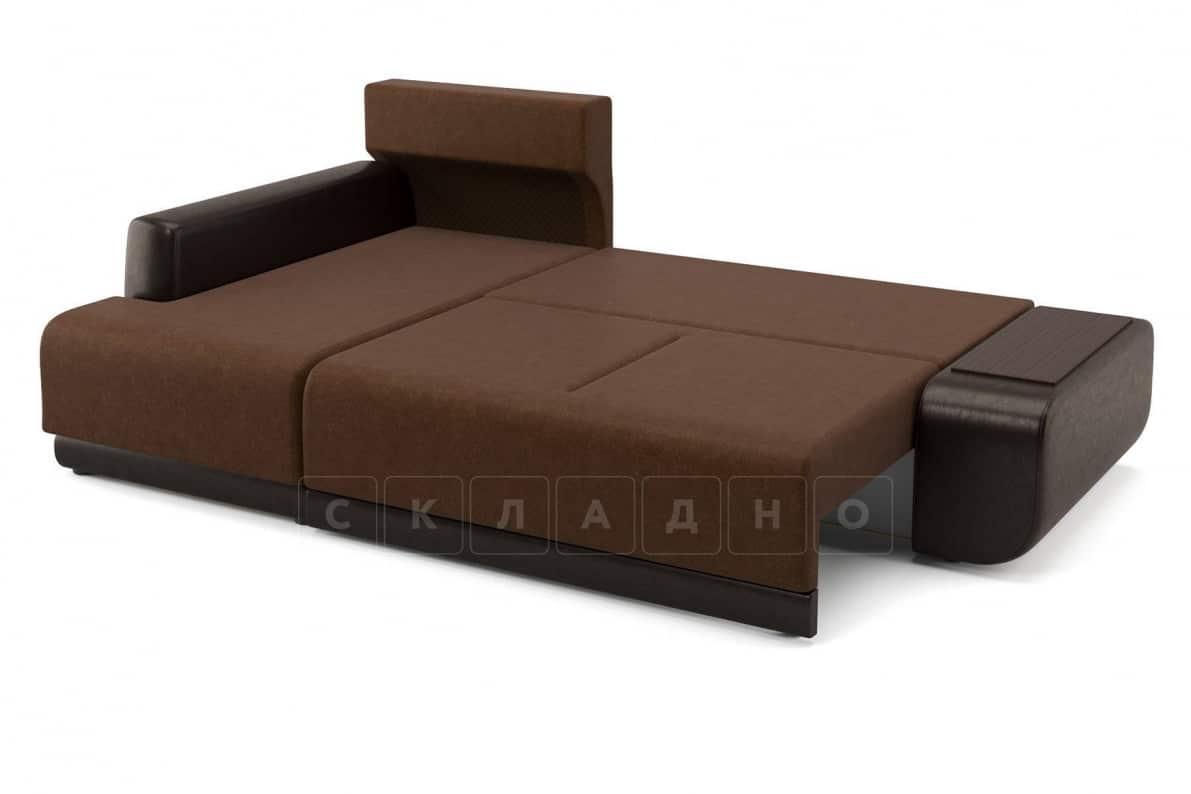Угловой диван Соло коричневый левый фото 4 | интернет-магазин Складно