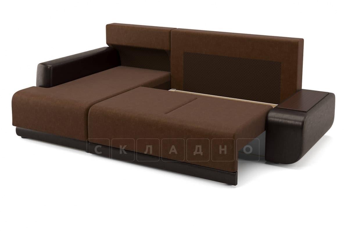 Угловой диван Соло коричневый левый фото 5 | интернет-магазин Складно