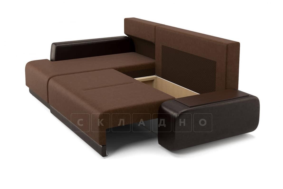 Угловой диван Соло коричневый левый фото 6 | интернет-магазин Складно