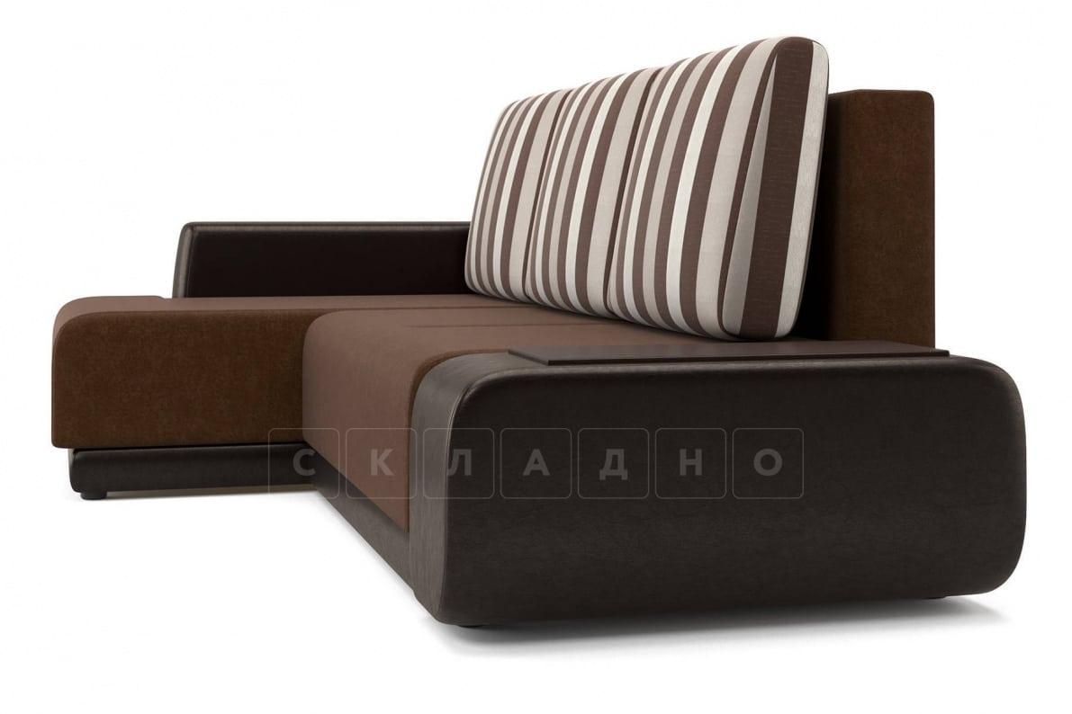 Угловой диван Соло коричневый левый фото 3 | интернет-магазин Складно