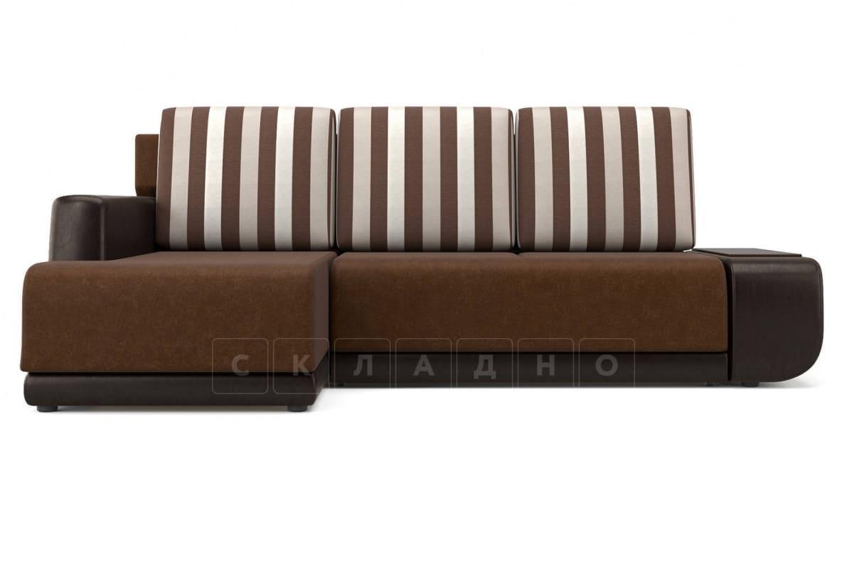 Угловой диван Соло коричневый левый фото 2 | интернет-магазин Складно