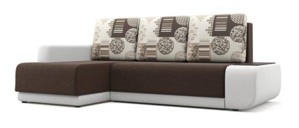 Угловой диван Соло белый левый фото | интернет-магазин Складно